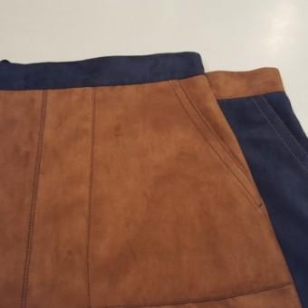 スェードボンディング台形スカート
