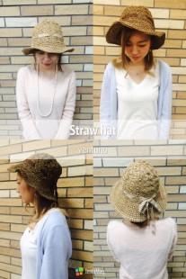 可愛い帽子で紫外線対策(^^)/
