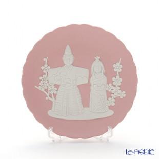 優しい色合いのピンク ジャスパー 雛人形の飾り皿