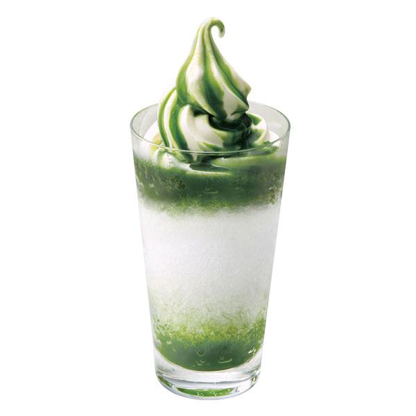 ソフトクリームかき氷(抹茶)