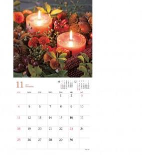 一年を華やかに彩る花のカレンダー プレゼント!