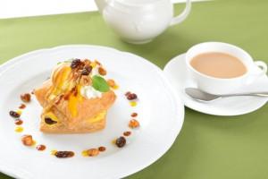 サクサクのパイに、かぼちゃのクリームが相性バツグン