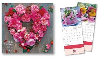 四季折々の花が美しいオリジナルカレンダー
