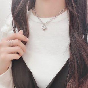 メタルハートネックレス♡